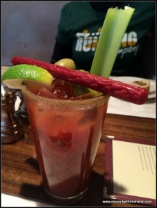 yes, my obligatory Bloody Mary that I treat myself to after every race.