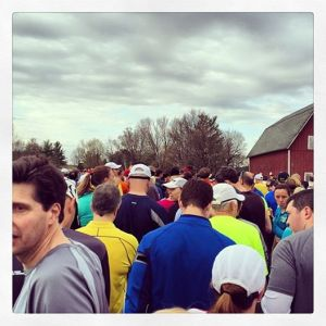 Runners at the start