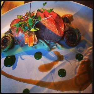 Lamb loin with fiddleheads?  Yes please...