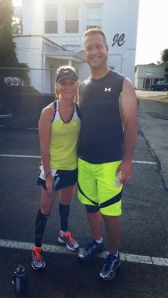 Me and my hubby-this was his FARTHEST run to date!  So proud!