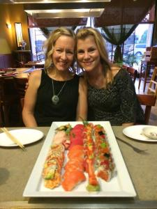 Sushi with great friends...doesn't get much better!
