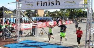 Our finish line photo...my biggest fan, and now running partner.