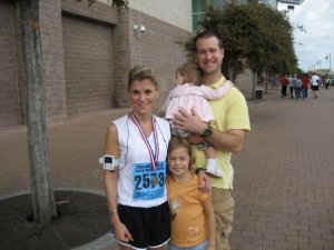 My biggest fans after finishing my first half marathon in 2007!