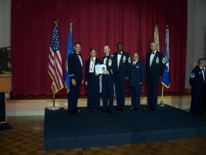 My SNCO induction ceremony in 2008.