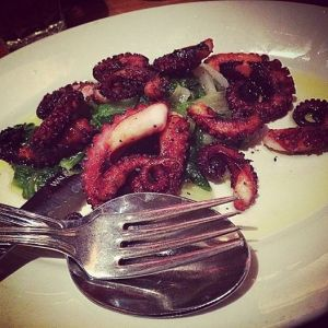 Roasted Octopus from Quarntino.  More winning.