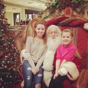 yes, I got the 15 year old to sit on Santa's lap...More winning.