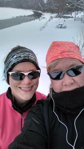 Last year winter running buddy