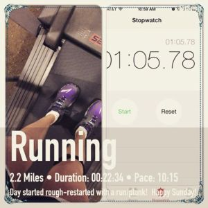 2.2 miles and my #Plankchallenge to start my day!