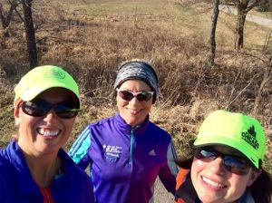 I haven't ran with these two in a while, so it was great to meet up with Melissa and Pat for some miles!
