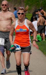 This pic, truly says it all.  Thanks to Dave Sheble from the Fox Valley Marathon for capturing it!