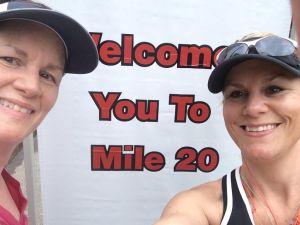 Mile 20 cheesin!