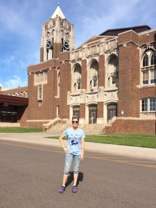 Me in front of my old high school!