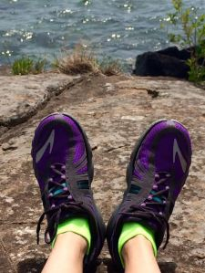 Happy feet by Lake Superior