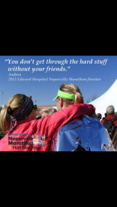 Here's a pic my friend Andrea made after I spectated and ran the last few miles of her first marathon with her.  One of my all time favorite running memories.