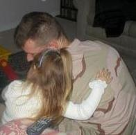 My hubby and J, the night before he left for Afghanistan in 2003.