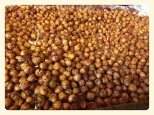 Spicy roasted chick peas!