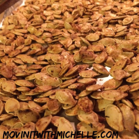 Pumpkin seeds, YUM!