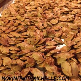 Pumpkin seeds, YUM!