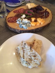 Cheese and Charcuterie plate, presented by the Chef himself
