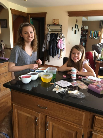 We decided coloring eggs must happen, and of course last minute Saturday night!