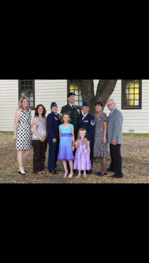 My family and friends at my retirement ceremony