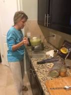 Hubby took my picture while I was making the mash